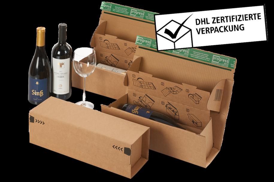 Flaschenverpackung Weinbox Multi für 1 Flasche