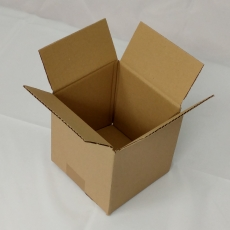 Faltkarton 150x150x150mm 1-wellig braun