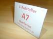 Tischaufsteller / L-Aufsteller DIN A7 Querformat 105x74mm