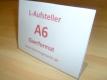 Tischaufsteller / L-Aufsteller DIN A6 Querformat 148x105mm