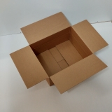 Faltkarton 500x400x150-250mm 2-wellig braun